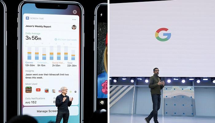 애플과 구글이 서로 다른 전략으로 새로운 성장 동력을 발굴하고 있다.[사진=뉴시스]