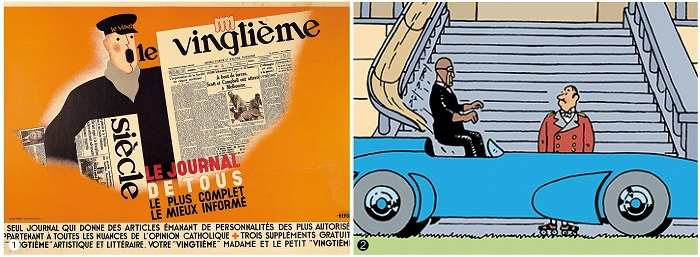 ❶ Le Vingtieme Siecle The Newspaper of all Poster, 1934년, 1182×833㎜ ❷ Mr.Pump's Car, 600×137×178㎜ [사진=